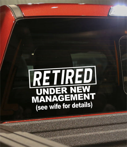 Retirement decal 5 - North 49 Decals