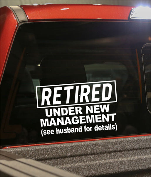 Retirement decal 6 - North 49 Decals