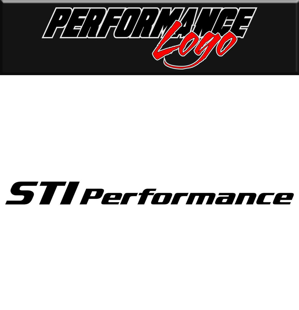 STI Performance decal, performance decal, sticker