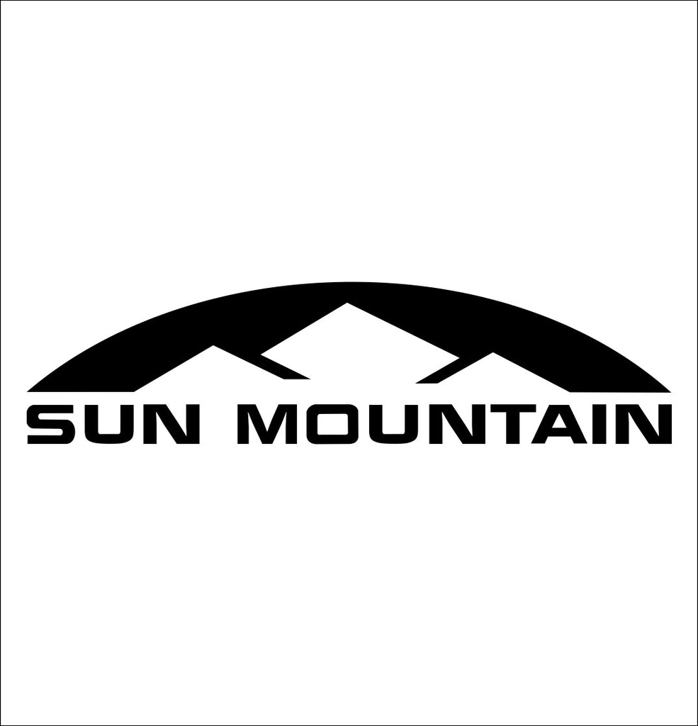 Sun Mountain decal, golf decal, car decal sticker