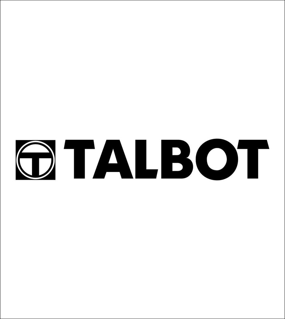 Talbot decal, sticker, car decal