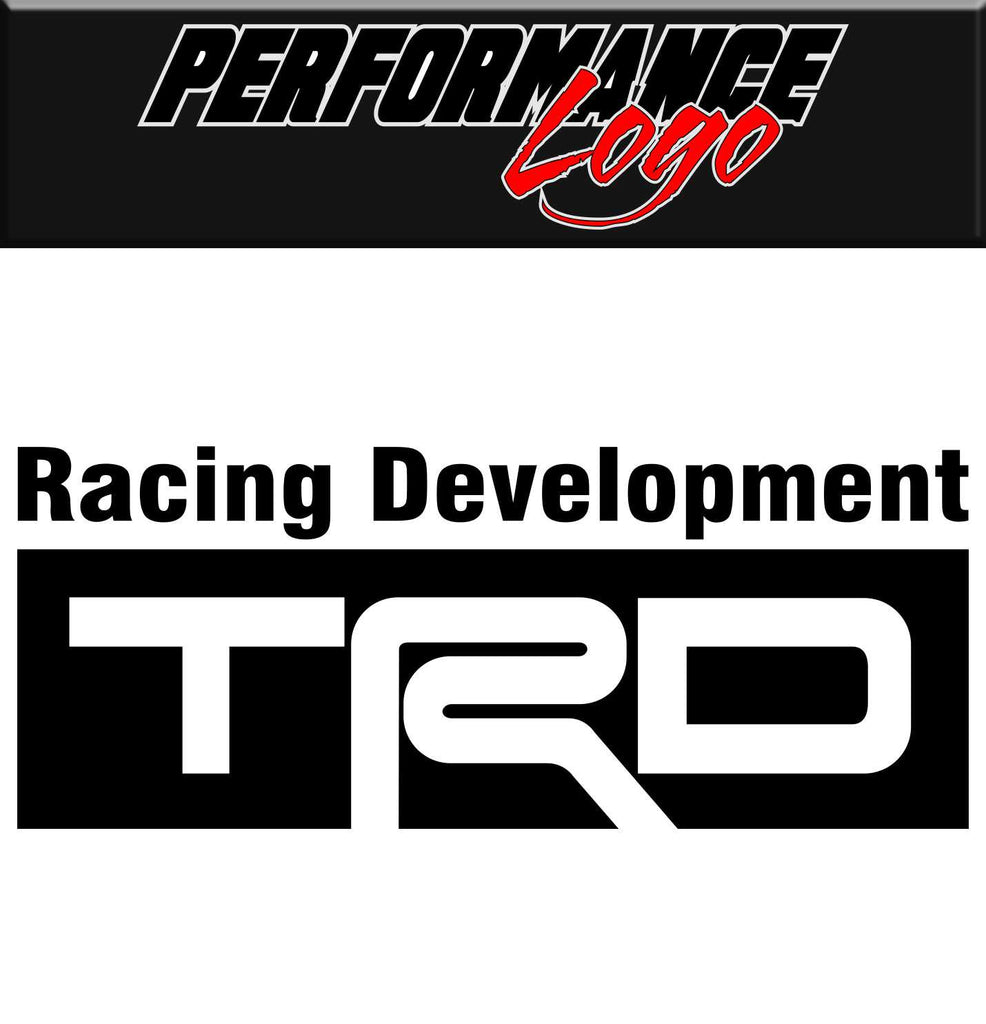 TRD decal, performance decal, Toyota Racing Development sticker