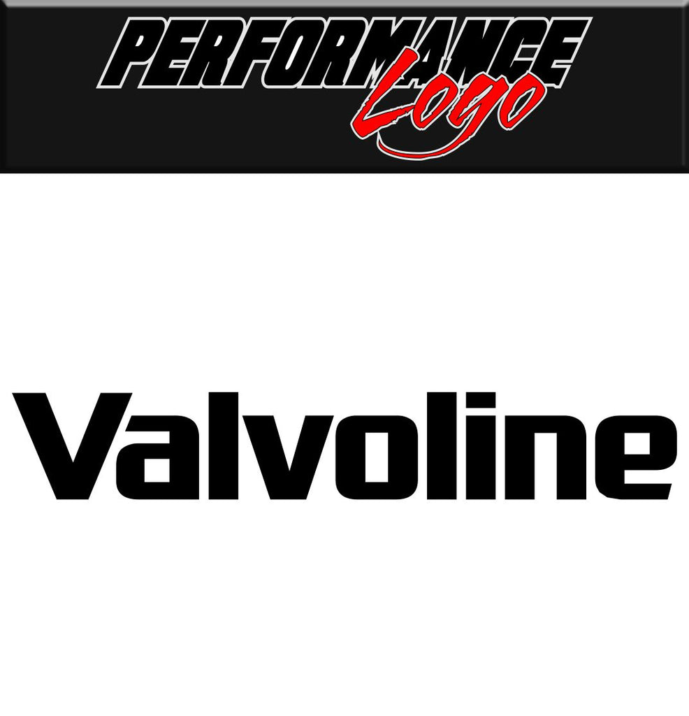 Valvoline decal, performance decal, sticker