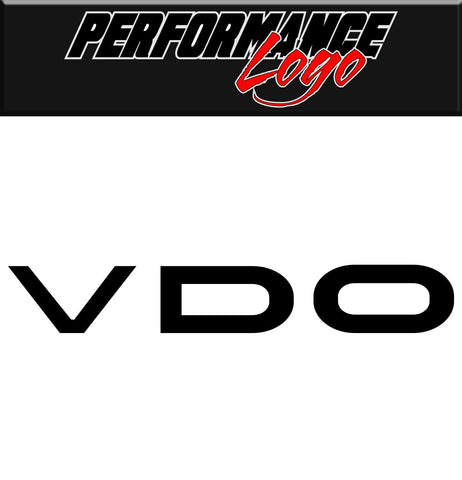 VDO decal, performance decal, sticker