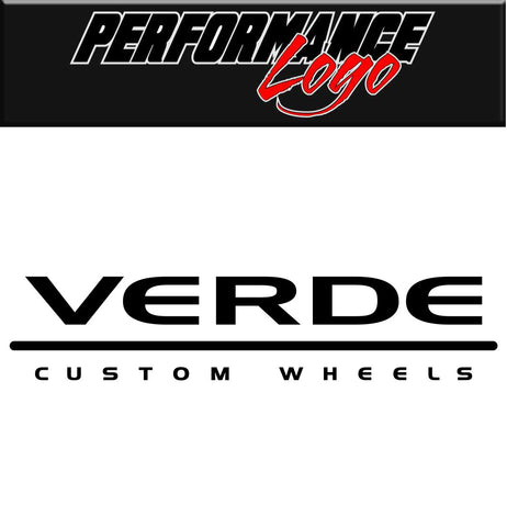 Verde Custom Wheels decal, performance decal, sticker