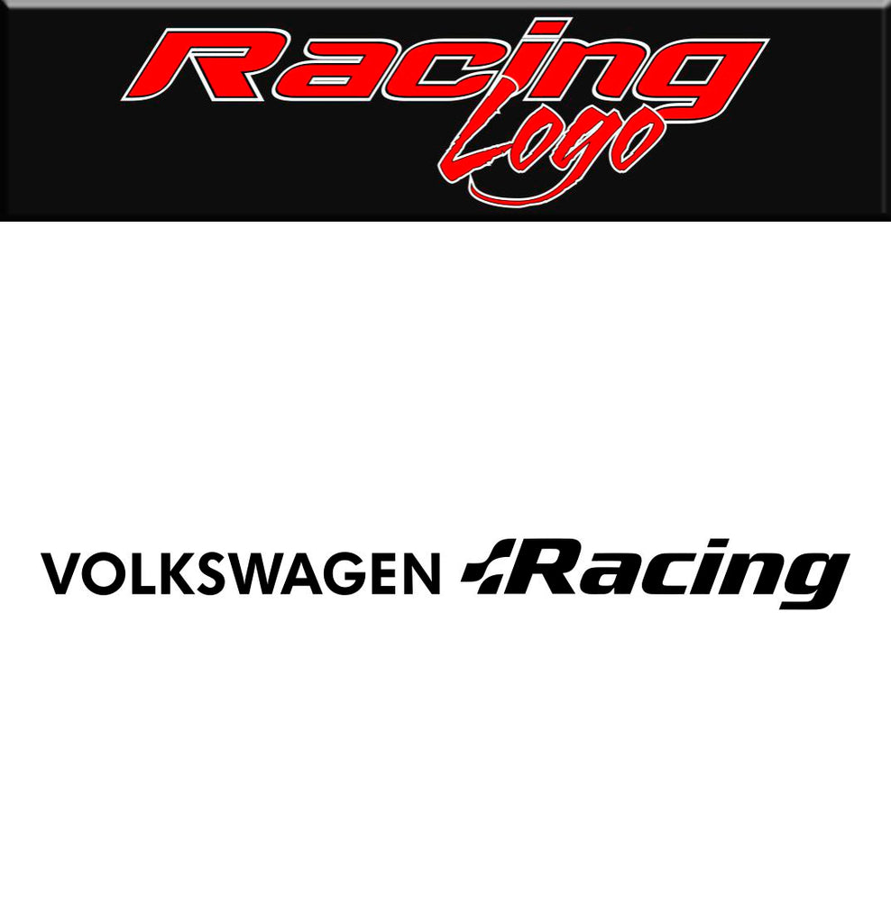 Volkswagen Racing decal, racing sticker