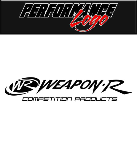 weapon r decal, car decal sticker