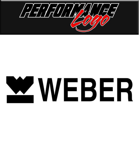 Weber decal, performance decal, sticker
