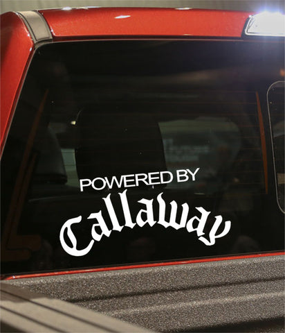 powered by callaway golf decal - North 49 Decals