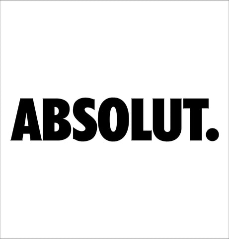 absolut decal, vodka decal, car decal, sticker