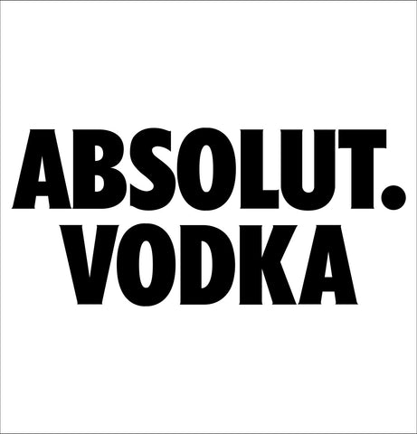 Absolut Vodka decal, vodka decal, car decal sticker