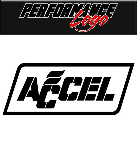 Accel decal car performance decal sticker