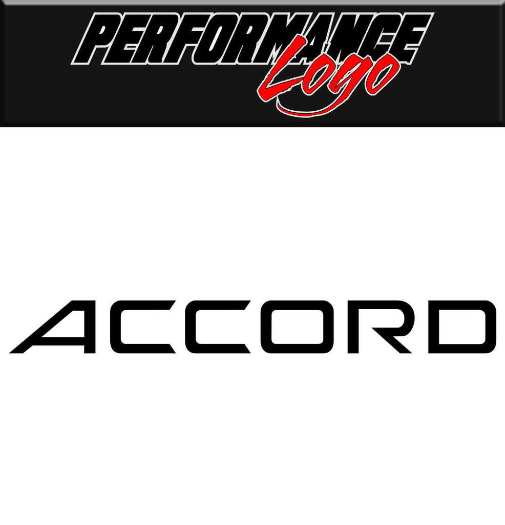 accord decal performance logo decal - North 49 Decals