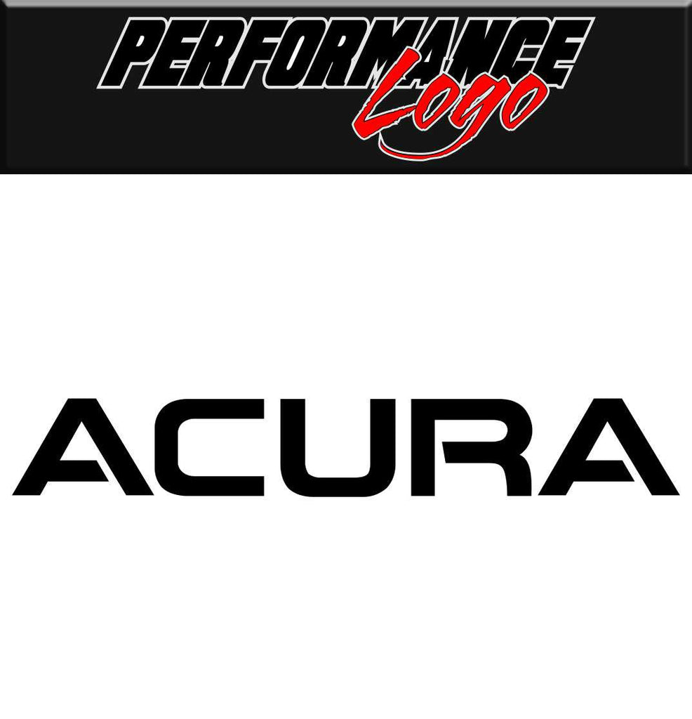 Acura Performance Logo Decal North Decals - Acura decals