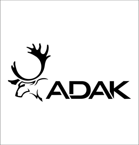 adak hunt decal, car decal sticker