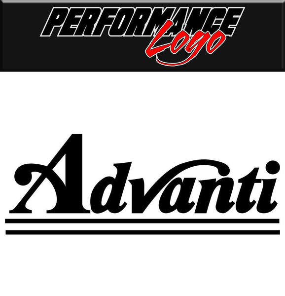 Advanti decal car performance decal sticker