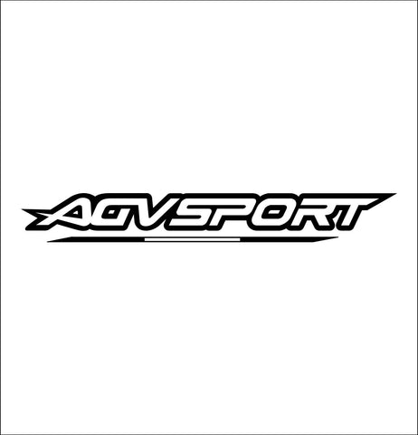 agv sport decal, car decal sticker