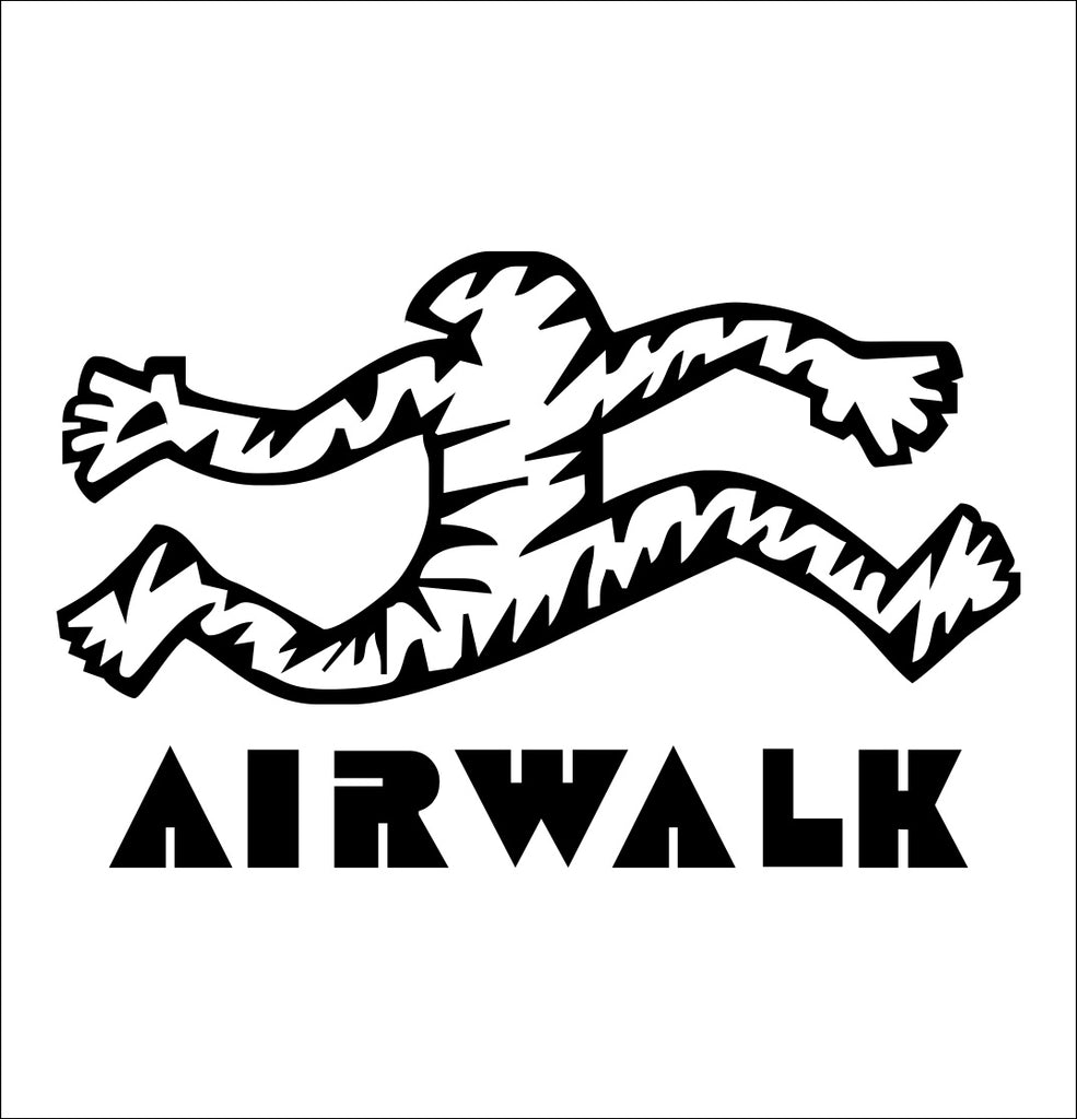 Airwalk decal, skateboarding decal, car decal sticker