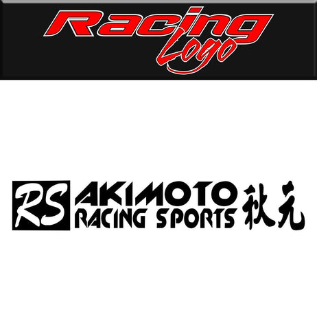 Akimoto Racing decal, racing sticker