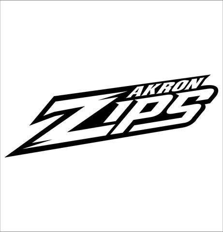 akron zips decal, car decal sticker, college football