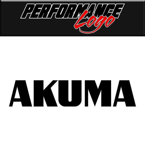 Akuma decal performance car decal vinyl sticker