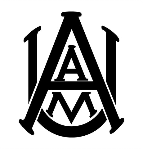Alabama A&M Bulldogs decal, car decal sticker, college football