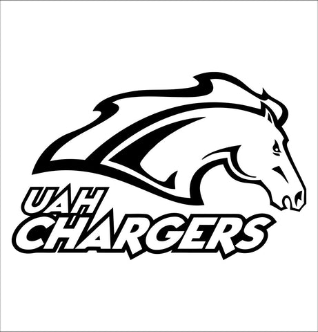 Alabama Huntsville Chargers decal, car decal sticker, college football