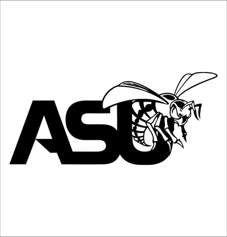 Alabama State Hornets decal, car decal sticker, college football