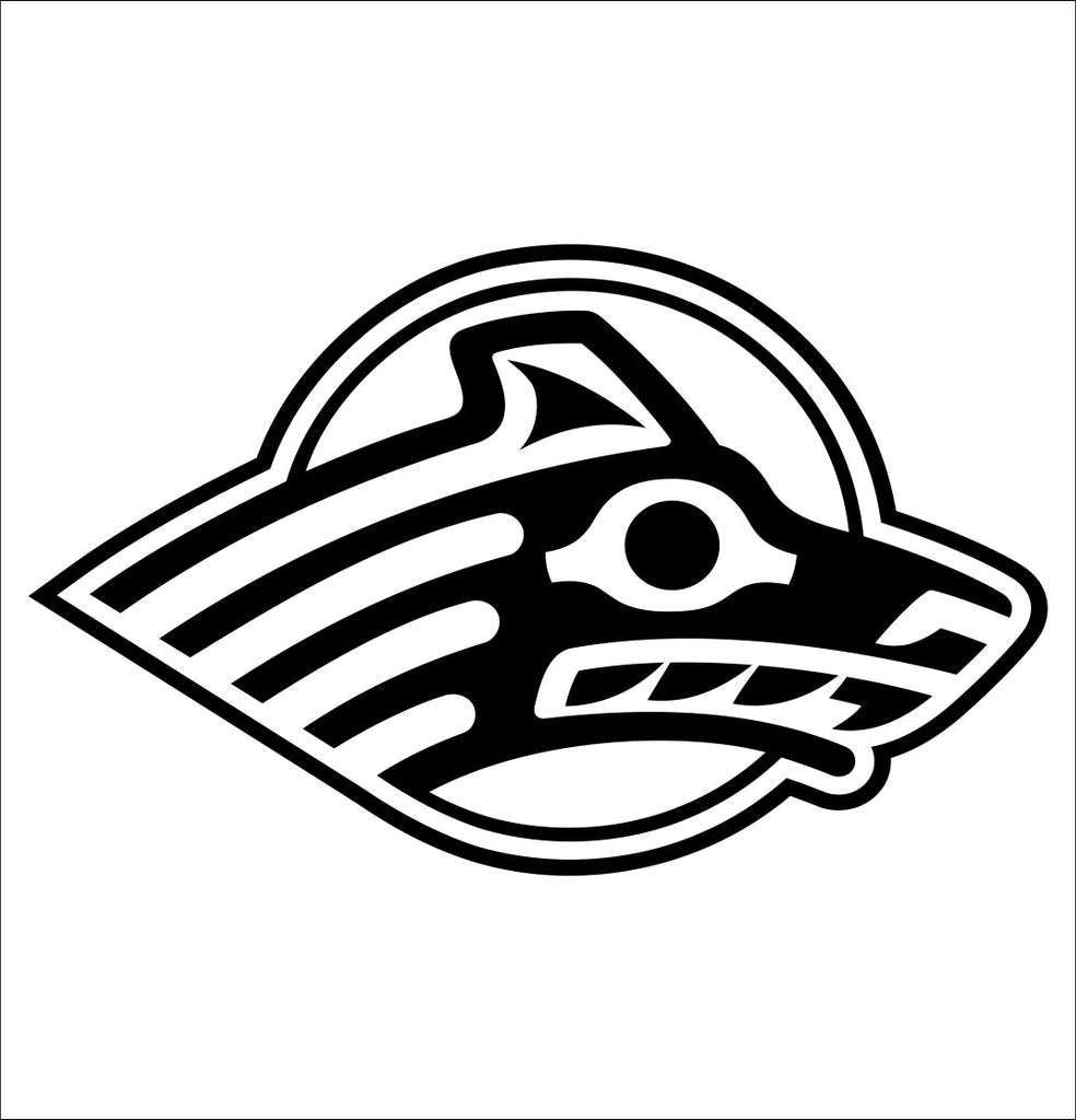 Alaska Seawolves decal, car decal sticker, college football