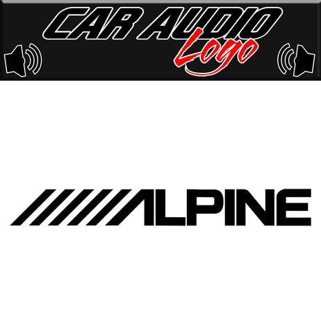 Alpine decal, sticker, audio decal