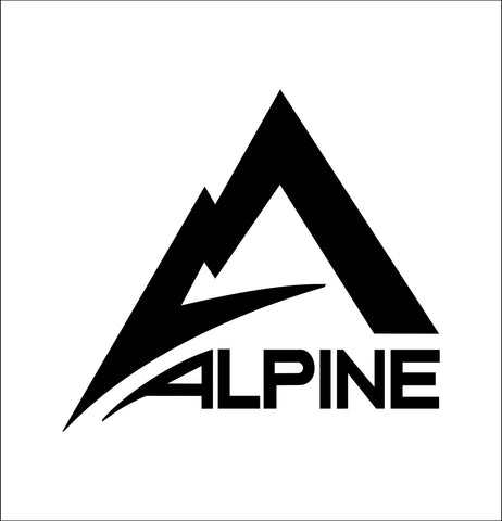 Alpine Innovations decal, car decal sticker