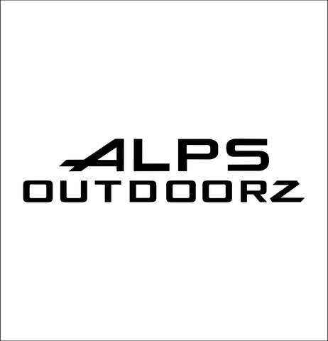 alps outdoorz decal, car decal sticker