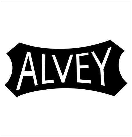 alvey decal, fishing hunting car decal sticker