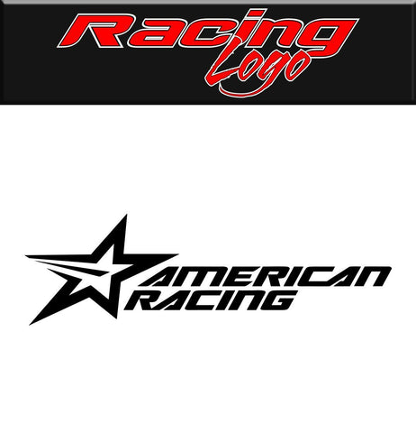 American Racing decal, racing sticker
