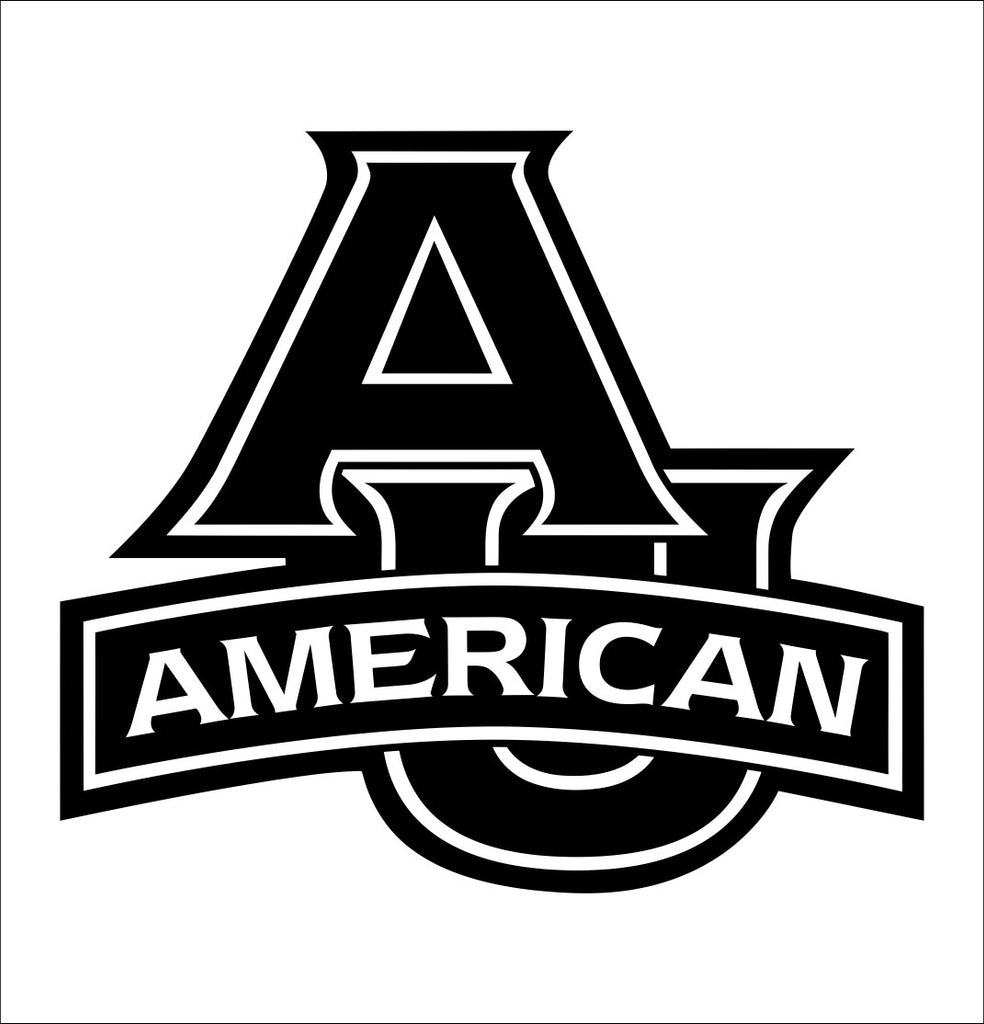 American University decal, car decal sticker, college football