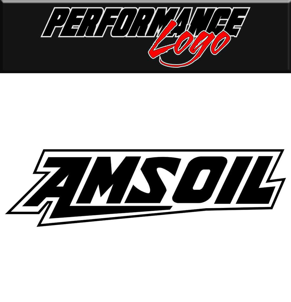 Amsoil decal performance car decal sticker
