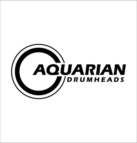 Aquarian Drumheads decal, music instrument decal, car decal sticker