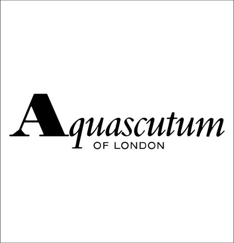 Aquascutum decal, car decal sticker