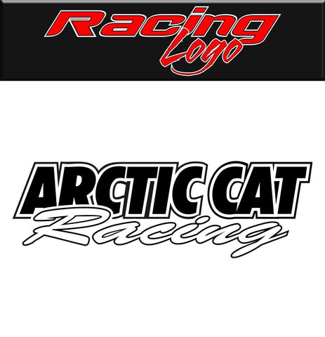 Arctic Cat Racing decal, racing sticker