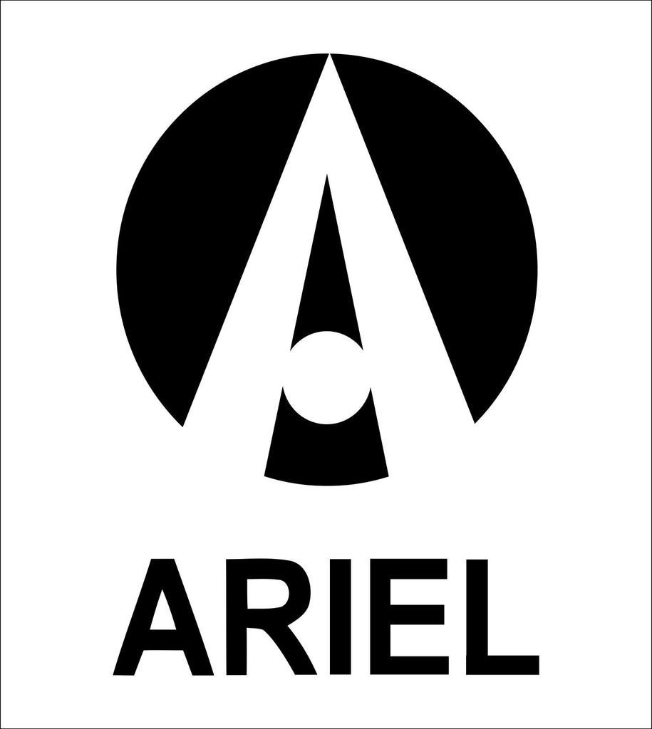 Ariel decal, sticker, car decal