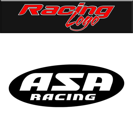 ASA Racing decal, racing sticker