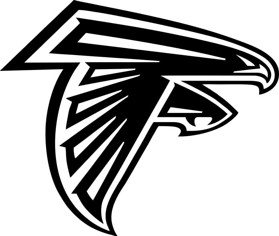 atlanta falcons car window decal