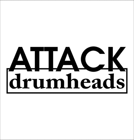 Attack Drumheads decal, music instrument decal, car decal sticker