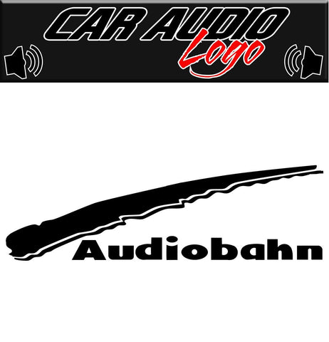 Audiobahn decal, sticker, audio decal
