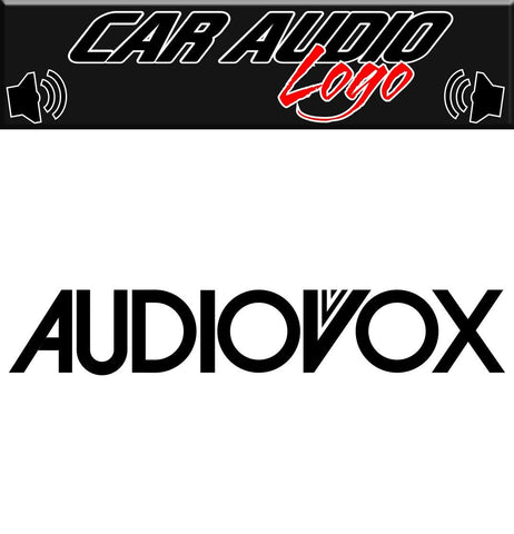 Audiovox decal, sticker, audio decal