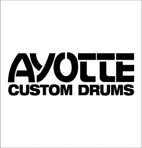 Ayotte Drums decal, music instrument decal, car decal sticker