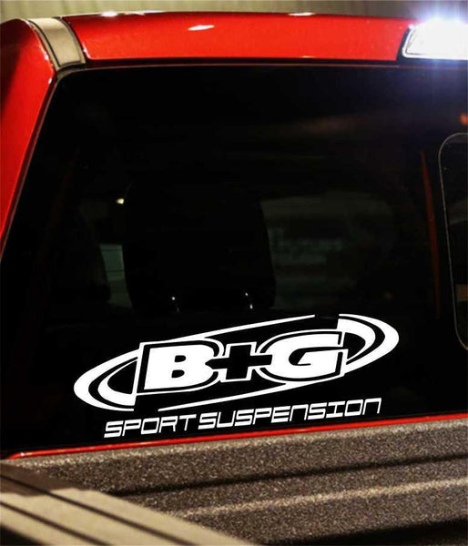 b&g suspension performance logo decal - North 49 Decals