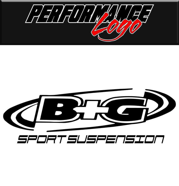 B&G Suspension decal performance decal sticker
