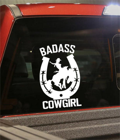 badass cowgirl 2 country & western decal - North 49 Decals