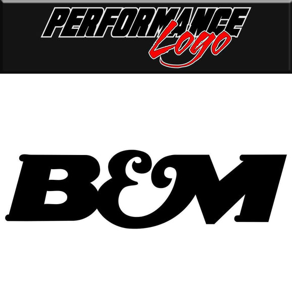 B&M decal performance decal sticker